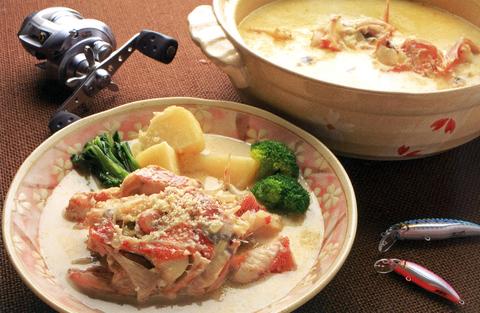カサゴの洋風豆乳鍋