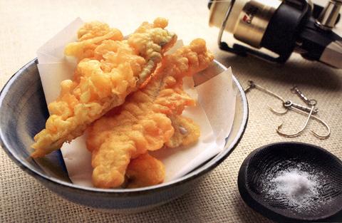 タチウオの天ぷら、チャンジャ風